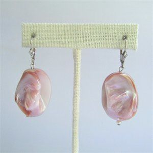 3 FOR $25 - Unique MOP Shell Earrings Sterl Silver